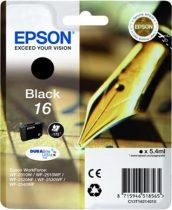 EPSON T16214010 Tintapatron Workforce WF2540WF nyomtatóhoz, EPSON fekete, 5,4ml