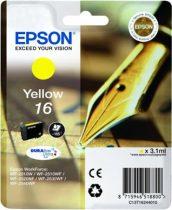EPSON T16244010 Tintapatron Workforce WF2540WF nyomtatóhoz, EPSON sárga, 3,1ml