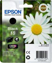 EPSON T18014010 Tintapatron XP 30, 102, 202, 205 nyomtatókhoz, EPSON fekete, 5,2ml
