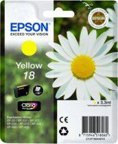 EPSON T18044010 Tintapatron XP 30, 102, 202, 205 nyomtatókhoz, EPSON sárga, 3,3ml