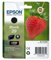 EPSON C13T29814010 Tintapatron XP235/332 nyomtatókhoz, EPSON fekete, 5,3ml