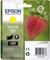 EPSON C13T29844010 Tintapatron XP235/332 nyomtatókhoz, EPSON sárga, 3,2ml