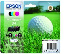 EPSON T34664010 Tintapatron multipack, WorkForce WF-3720DWF nyomtatóhoz, EPSON, b+c+m+y, 18,7 ml