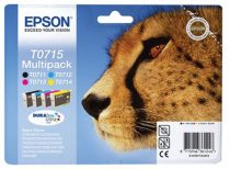 EPSON T07154010 Tintapatron multipack Stylus D78, D92, D120 nyomtatókhoz, EPSON, b+c+m+y, 23,9ml