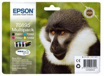 EPSON T08954010 Tintapatron multipack Stylus S20 nyomtatóhoz, EPSON b+c+m+y, 1*5,8ml, 3*3,5ml