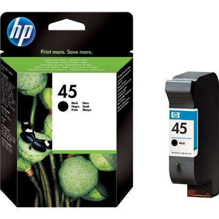 HP 51645AE Tintapatron DeskJet 710c, 720c, 815c nyomtatókhoz, HP 45, fekete, 42ml