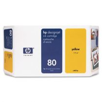 HP C4823A Tintapatron fej DesignJet 1050C nyomtatóhoz, HP 80, sárga