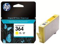 HP CB320EE Tintapatron Photosmart C5380, C6380, D5460 nyomtatókhoz, HP 364, sárga, 300 oldal