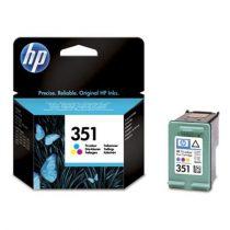 HP CB337EE Tintapatron DeskJet D4260, OfficeJet J5780 nyomtatókhoz, HP 351 színes, 3,5ml