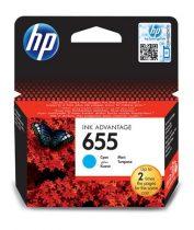 HP CZ110E Tintapatron Deskjet Ink Advantage 3520 sorozat nyomtatókhoz, HP 655, cián, 600 oldal