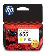 HP CZ112E Tintapatron Deskjet Ink Advantage 3520 sor nyomtatókhoz, HP 655 sárga, 600 oldal