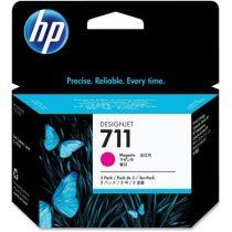 HP CZ135A Tintapatron DesignJet T120, T520, nyomtatókhoz, HP 711, magenta, 29ml