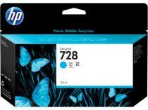 HP F9J67A Tintapatron DesignJet T730, T830 nyomtatókhoz, HP 728, cián, 130ml