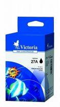 VICTORIA C8727AE Tintapatron DeskJet 3318, 3320, 3325 nyomtatókhoz, VICTORIA 27 fekete, 18ml