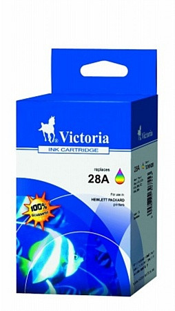 VICTORIA C8728AE Tintapatron DeskJet 3318, 3320, 3325 nyomtatókhoz, VICTORIA 28, színes, 18ml