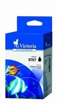 VICTORIA C8767EE Tintapatron DeskJet 5740, 5940, 6540d nyomtatókhoz, VICTORIA 339, fekete, 25ml