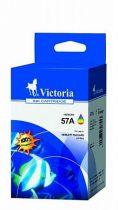VICTORIA C6657AE Tintapatron DeskJet 450c, 450cb, 5150 nyomtatókhoz, VICTORIA 57, színes, 18ml