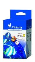 VICTORIA CB325EE Tintapatron Photosmart C5380, C6380 nyomtatókhoz, VICTORIA 364XL, sárga, 12ml