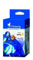 VICTORIA CN048AE Tintapatron OfficeJet Pro 8100 nyomtatóhoz, VICTORIA 951XL sárga, 20ml