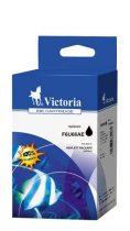 VICTORIA F6U68AE Tintapatron DeskJet 1110, 2130, 3630/OfficeJet 3830, 4650/Envy 4520 nyomtatókhoz, VICTORIA 302XL, fekete, 9ml
