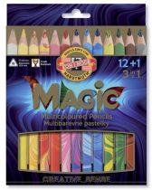 """KOH-I-NOOR Színes ceruza készlet, háromszögletű, KOH-I-NOOR """"Magic 3408"""", 12+1 különböző szín"""