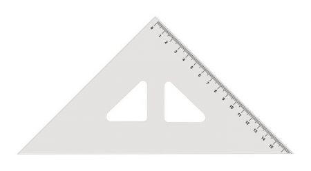 KOH-I-NOOR Háromszög vonalzó, műanyag, 45 °, KOH-I-NOOR