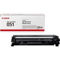 CANON CRG-051 Lézertoner i-SENSYS LBP162dw, MF269dw, MF267dw, MF264dw nyomtatókhoz, CANON, fekete, 1,7k