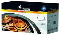 VICTORIA CRG-712 Lézertoner i-SENSYS LBP 3010, 3100 nyomtatókhoz, VICTORIA fekete 1,5k
