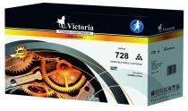 VICTORIA CRG-728 Lézertoner i-SENSYS MF4410, 4430, 4450 nyomtatókhoz, VICTORIA fekete, 2,1k