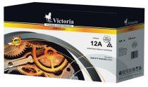 VICTORIA Q2612A Lézertoner LaserJet 1010, 1012, 1015 nyomtatókhoz, VICTORIA 12A, fekete, 4k