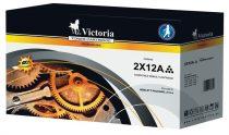 VICTORIA Q2612AD Lézertoner LaserJet 1010, 1015, 1018 nyomtatókhoz, VICTORIA 12A, fekete, 2*2k