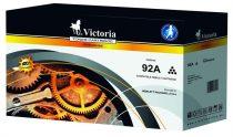 VICTORIA C4092A Lézertoner LaserJet 1100, 1100A, 3200 nyomtatókhoz, VICTORIA 92A fekete, 2,5k