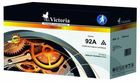 VICTORIA C4092A Lézertoner LaserJet 1100, 1100A, 3200 nyomtatókhoz, VICTORIA 92A, fekete, 2,5k
