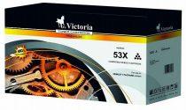 VICTORIA Q7553X Lézertoner LaserJet P2014, P2015, M2727MFP nyomtatókhoz, VICTORIA 53X, fekete, 7k