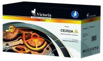VICTORIA CE252A Lézertoner ColorLaserJet CM3530, CP3525 nyomtatókhoz, VICTORIA 504A, sárga, 7k
