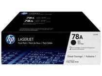 HP CE278AD Lézertoner LaserJet P1566, P1606 nyomtatókhoz, HP 78A, fekete, 2*2,1k