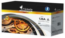 VICTORIA CE310A Lézertoner ColorLaserJet Pro CP1025 nyomtatóhoz, VICTORIA 126A fekete, 1,2k