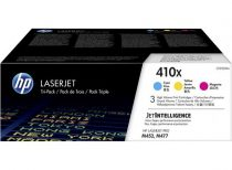 HP CF252XM Lézertoner multipack Color LaserJet Pro M452, M477 nyomtatókhoz, HP 410X, c+m+y, 3*5k
