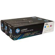 HP CF341A Lézertoner multipack ColorLaserJet Pro CP1025 nyomtatóhoz, HP 126A, c+m+y, 3*1k