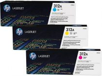 HP CF440AM Lézertoner multipack LaserJet M476 nyomtatóhoz, HP 312A, c+m+y, 3*2,7k
