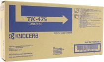 KYOCERA TK475 Lézertoner FS 6025MFP, 6030MFP nyomtatókhoz, KYOCERA, fekete, 15k