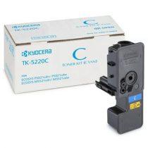 KYOCERA TK5220C Lézertoner P5021cdn, P5021cdw, M5521cdn, M5521cdw nyomtatókhoz, KYOCERA, cián, 1,2k