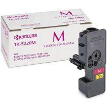KYOCERA TK5220M Lézertoner P5021cdn, P5021cdw, M5521cdn, M5521cdw nyomtatókhoz, KYOCERA, magenta, 1,2k