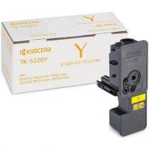 KYOCERA TK5220Y Lézertoner P5021cdn, P5021cdw, M5521cdn, M5521cdw nyomtatókhoz, KYOCERA sárga 1,2k