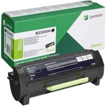 LEXMARK B232000 Lézertoner B232000 nyomtatókhoz, LEXMARK, fekete, 3k (return)