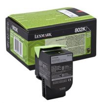 LEXMARK 80C20K0 Lézertoner CX310n/dn nyomtatóhoz, LEXMARK fekete, 1k (return)