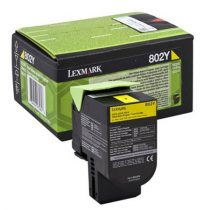 LEXMARK 80C20Y0 Lézertoner CX310n/dn nyomtatóhoz, LEXMARK sárga, 1k (return)