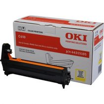 OKI 44315105 Dobegység C610 nyomtatóhoz, OKI, sárga, 20k