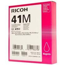RICOH 405763 Gélpatron SG 3100SNw, SG 7100DN nyomtatókhoz, RICOH Type GC41M vörös, 2,2K