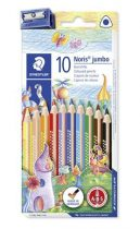 """STAEDTLER Színes ceruza készlet, háromszögletű, vastag, STAEDTLER """"Noris Club"""", 10 különböző szín"""